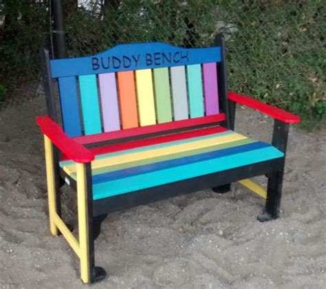 Buddy Bench by The 4 Ft Quot Buddy Bench Quot Taylors Recycled Plastic Products Inc