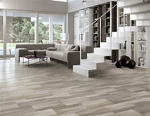 carrelage imitation parquet gris With salon carrelage imitation parquet