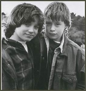 "Elijah Wood and Macaulay Culkin on the set of ""The"