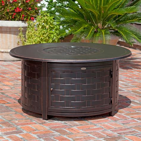 Check spelling or type a new query. Fire Sense Perissa Woven Round Cast Aluminum Propane Gas ...