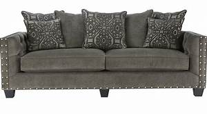 sidney road gray sofa classic transitional polyester With cindy crawford sectional sofa dimensions