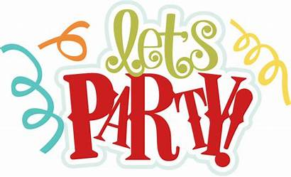 Party Birthday Clipart Title Scrapbook Lets Let