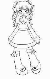 Doll Coloring Rag Creepy Tsukiko Moonchild Lines Drawings Anime Evil Deviantart Manga sketch template