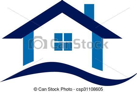 Blue house logo. Real estate blue house logo business ...