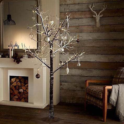 ebay prelit tree not working 7ft snowy effect warm white twig tree pre lit 120 led lights indoor outdoor ebay