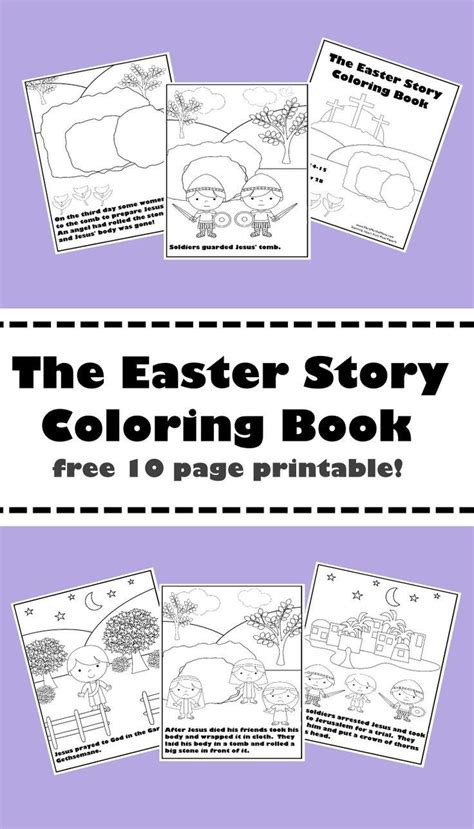 easter story coloring book  printable  page coloring book  page features  scene