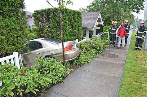Car Knocked Off Road In Walnut Grove  Langley Advance