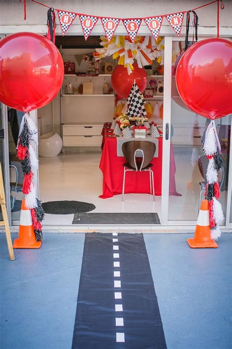 Kara's Party Ideas Race Car Themed Birthday Party