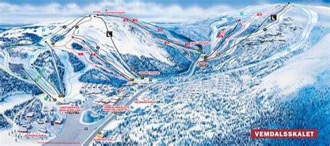 Vemdalen ski map, Sweden, Europe