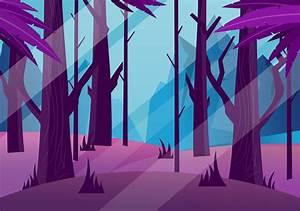 Creepy Forest Free Vector Art