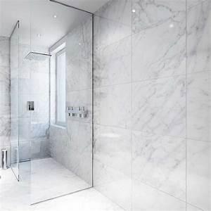 Salle De Bain Marbre Blanc : carrelage mur sol 60x120 cm porcelaine de paris marbre blanc ~ Nature-et-papiers.com Idées de Décoration