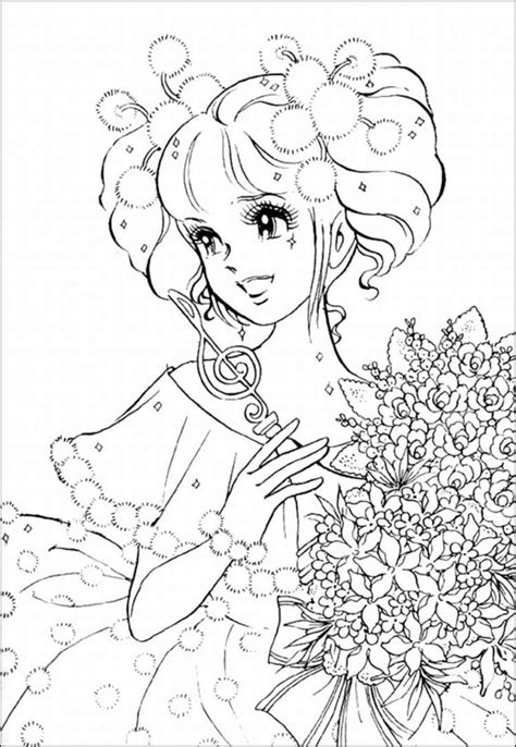 httpfreecoloringpagesitecomcoloring picsanime girl