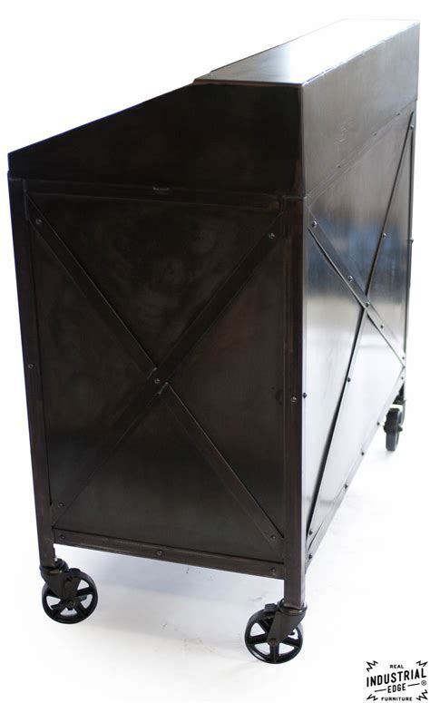 Industrial Custom Hostess Stand / Rolling / 3 Door ? Real