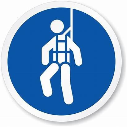 Harness Safety Sign Wear Mandatory Iso Symbol