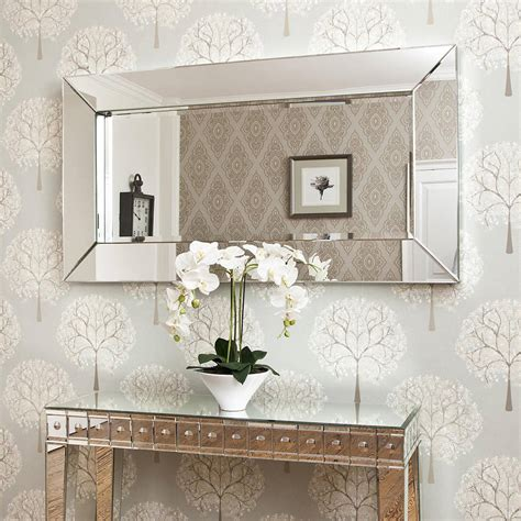 large all glass framed wall mirror by decorative mirrors notonthehighstreet