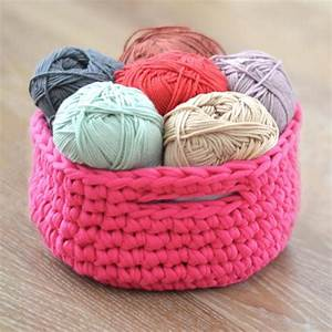 Corbeille Au Crochet : kit crochet corbeille trapilho a a patrons ~ Preciouscoupons.com Idées de Décoration