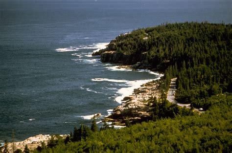 shoreline landscape  acadia national park maine image