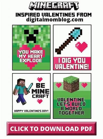 Valentines Minecraft Valentine Cards Printables Printable Card