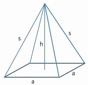 Quadratische Pyramide A Berechnen : spitze k rper pyramide und kegel ~ Themetempest.com Abrechnung