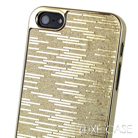 iphone 5 designer cases iphone 5 cover gold glitter sparkle bling luxury