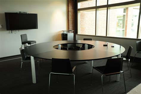 round conference table for 6 round table chairs tv monitor conference room 2nd floo