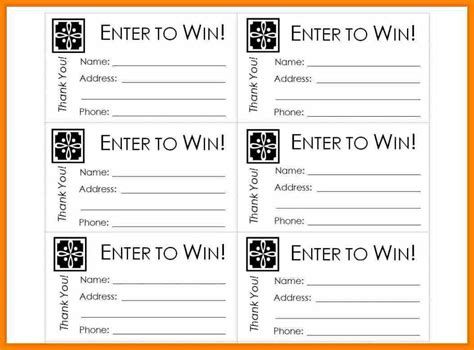 printable ticket template 10 free printable blank raffle ticket template language literature