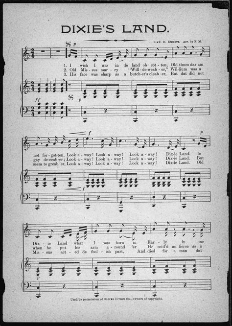 civil war sheet music collection available online