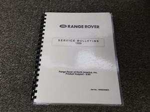 1989 Land Rover Ranger Rover Technical Service Bulletins Manual 3 9l 4wd Country