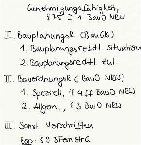 6 Bauo Nrw : genehmigungsf higkeit 75 i 1 bauo nrw exkurs jura ~ Articles-book.com Haus und Dekorationen