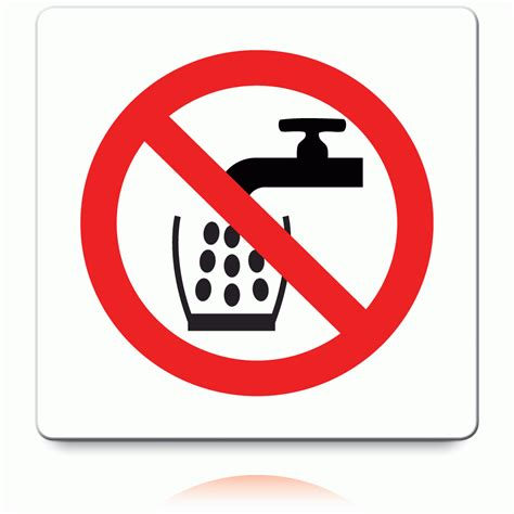buy  drinking water labels prohibition stickers