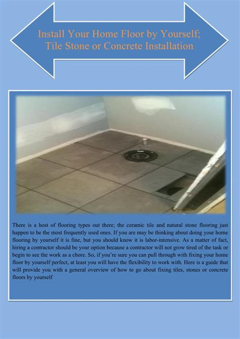 ppt install your home floor by yourself tile stone or