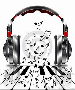 Realistic Headphones With Music Notes Stock Illustration ...