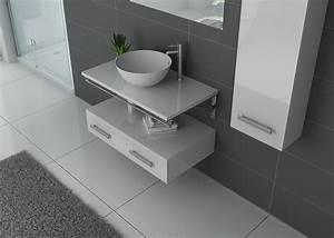 Meuble Simple Vasque : meuble salle de bain 1 vasque ref virtuose blanc ~ Teatrodelosmanantiales.com Idées de Décoration
