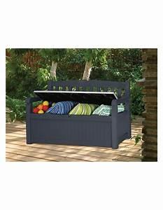 Coffre De Terrasse : coffre banc de jardin ou terrasse gris anthracite 265 l en pvc ~ Melissatoandfro.com Idées de Décoration