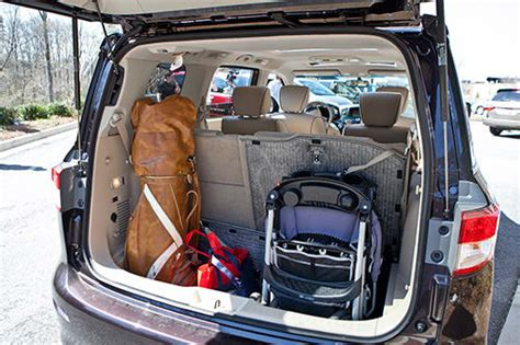 top minivan nissan quest  offer  cargo hauling
