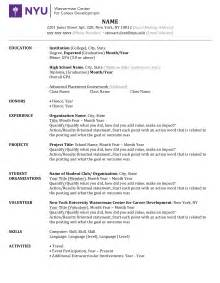 resume resource guide uw microsoft word resume guide checklist 1 docx nyu