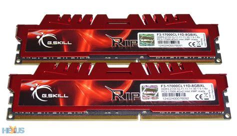 Review Gskill Ripjawsx (f317000c11d8gbxl) Ram