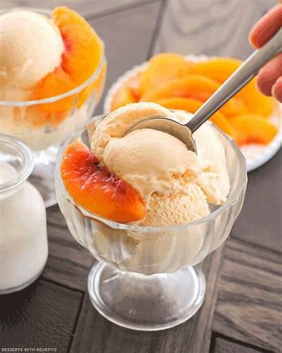 Cream Ice Peaches Healthy Desserts Sugar Animated