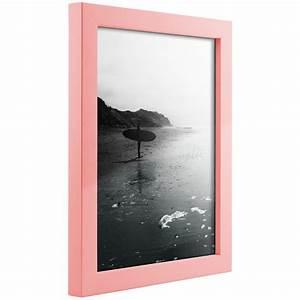 Craig Frames Confetti, Modern Light Pink Solid Wood ...
