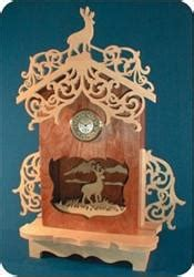 deer silhouette clock scroll  patterns scrollsawcom