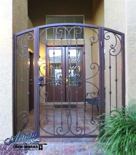 fouet wrought iron courtyard entryway model ce