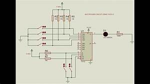 Multiplexer Circuit Using 74153