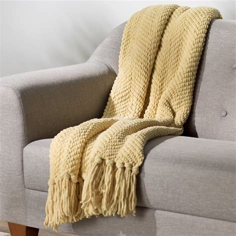 nader tweed knitted throw blanket reviews birch lane