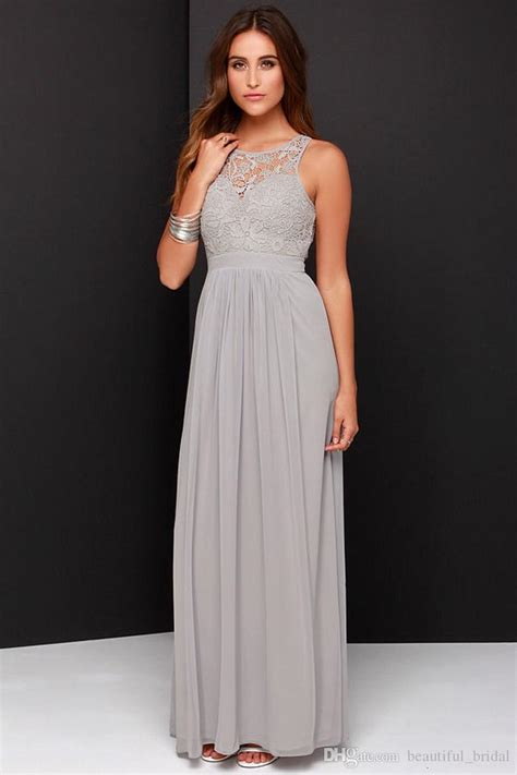 light grey bridesmaid dresses long 2016 spring grey bridesmaid dresses long chiffon a line