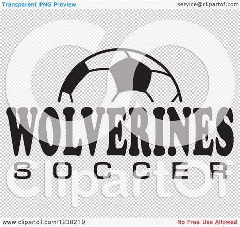 soccer team clipart black and white clipart of a black and white and wolverines soccer