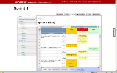 scrum template project plan template docs schedule template free
