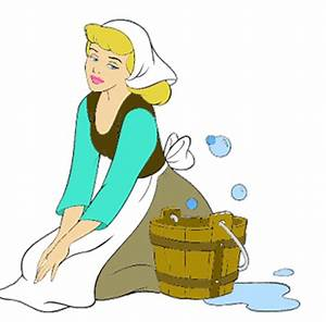 Disney Princess Cinderella In Rags Cleaning Pictures