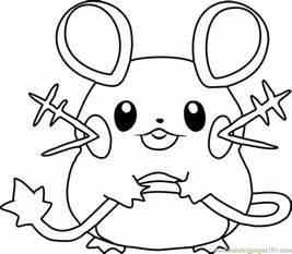 dedenne pokemon coloring page