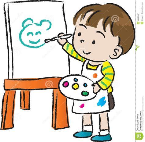 children drawing stock illustration image  cute