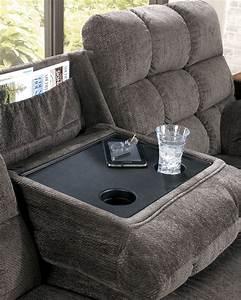 acieona slate reclining sofa with drop down table from With sectional sofa with drop down table